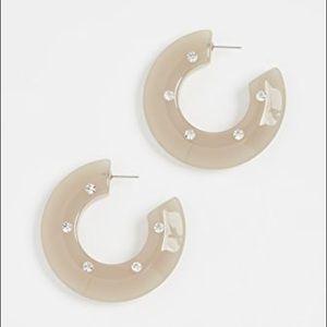 RACHEL COMEY • Hula Hoop Earrings Grey